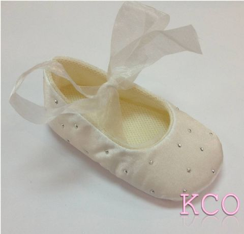 Style FJS017 Ivory~Girls Shoes